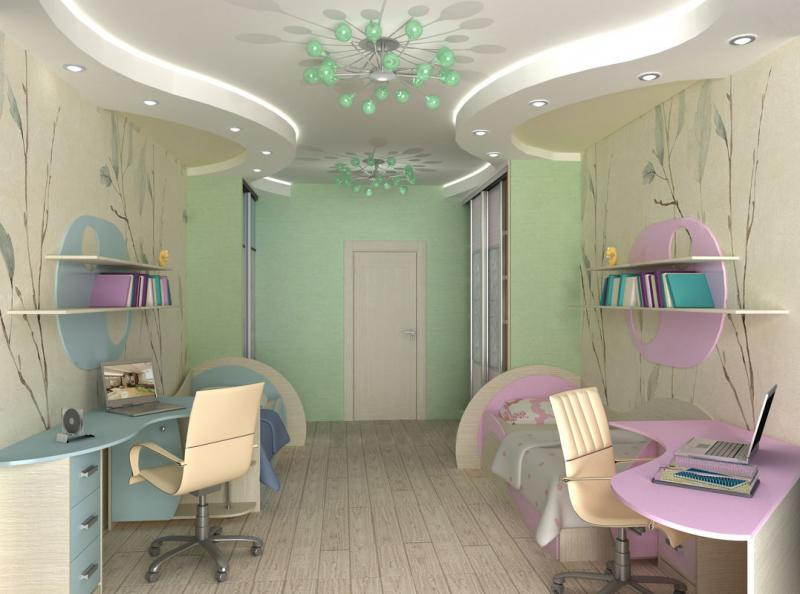 Детская для мальчика и девочки в одной комнате: планируем, обставляем, украшаем