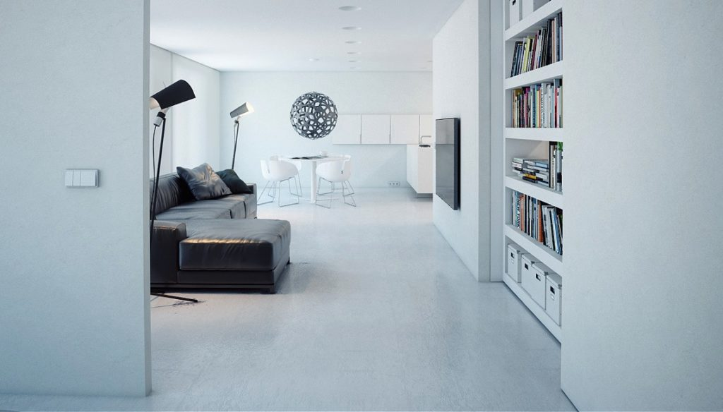 Маленькая квартира в стиле минимализм