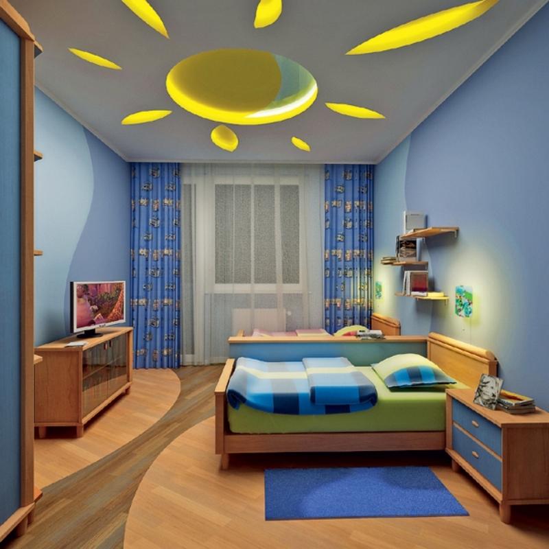 Разноуровневый потолок в детской