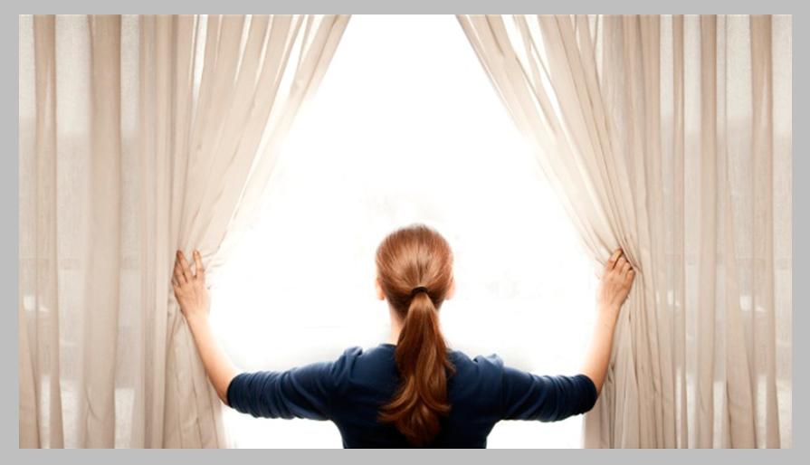 Ручное открывание штор