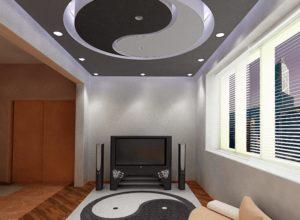Инь-янь на чёрно-белом потолке