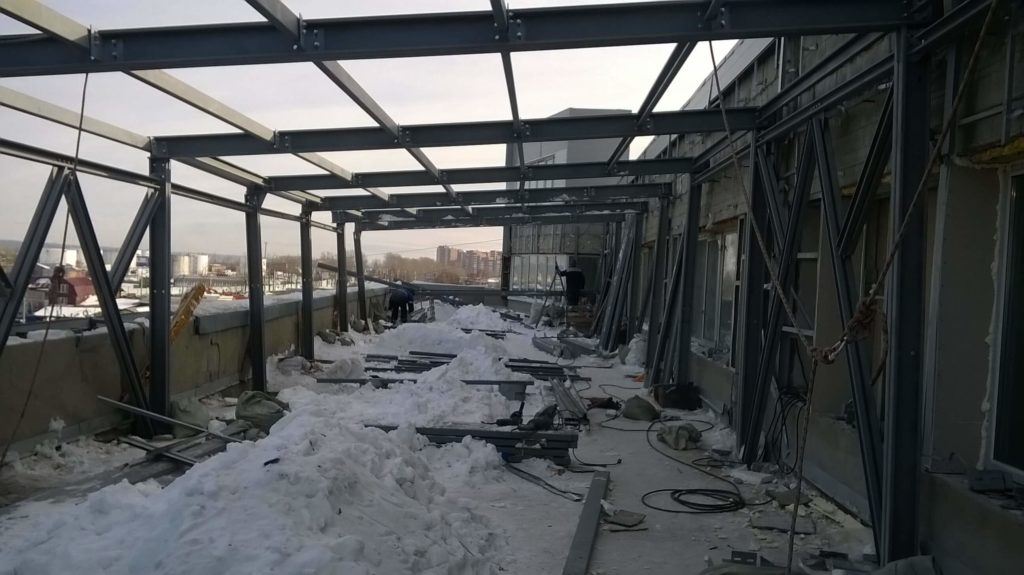 Возведение мансардного этажа из ЛСТК