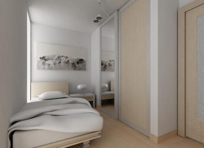 Бежевые оттенки в спальне