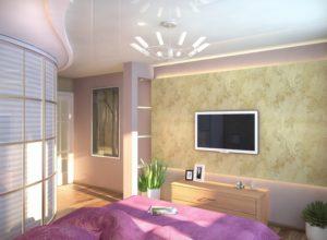Необычный стиль спальни с гардеробной