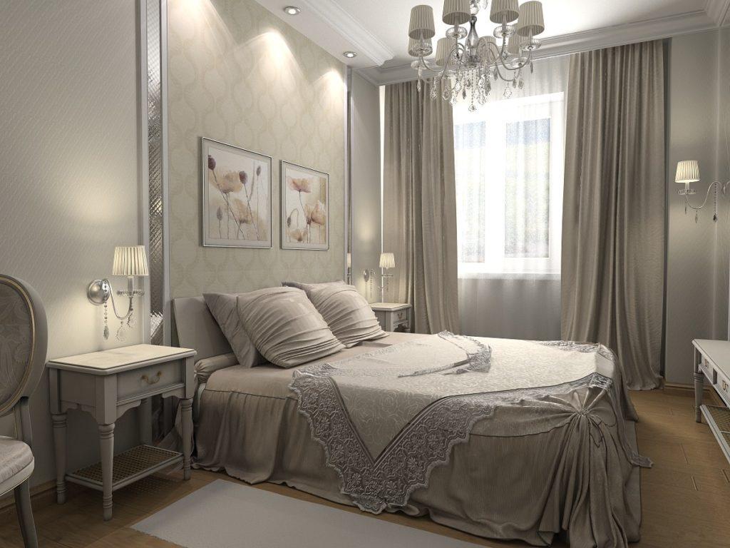 Вариант текстильного оформления для маленькой спальни