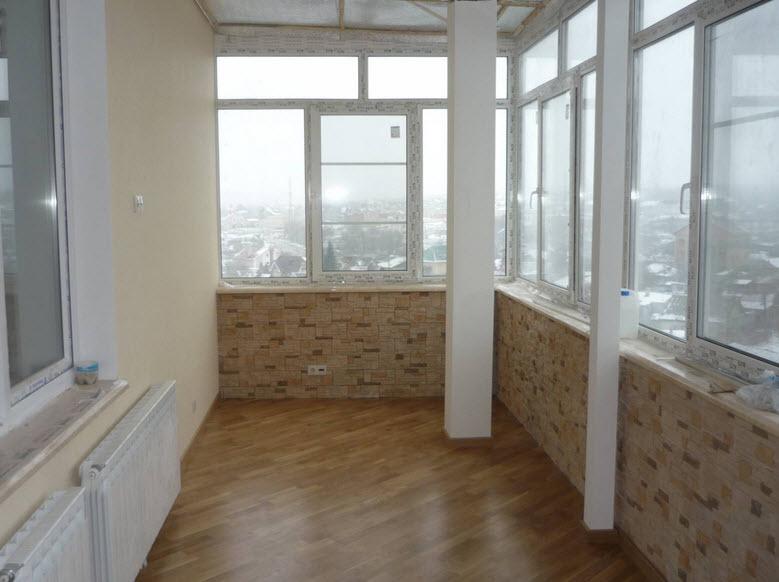 Внутренняя утепление балкона