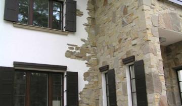 Облицовка дома камнем