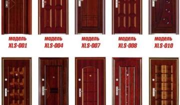 Модели металлических дверей