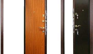 Классическая металлическая дверь