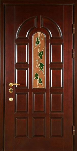 металлические уличные двери с филенкой клинские