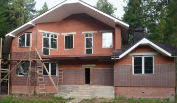 Отделка фасада: в процессе