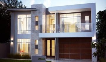 Современный фасад частного дома