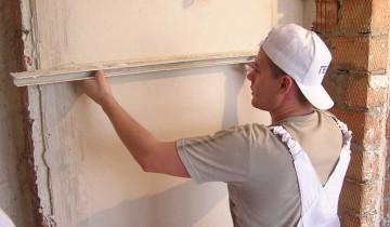 Шпаклевка стен: работа с уровнем