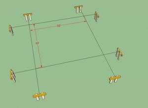 Схема расположения беседки с мангалом на участке, spec86.ru