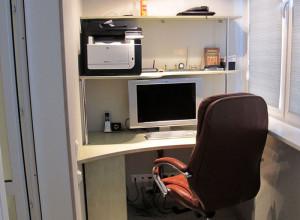 Фото кабинета на лоджии, zelenopol.net