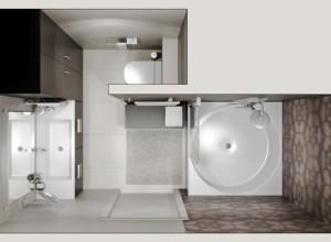 Изображение 3D модели ванной комнаты, msant.ru