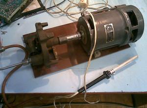 Фотография самодельного термофена для пайки, teron.ru