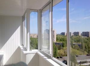 Балкон остекленный окнами ПВХ, goodlinez.ru