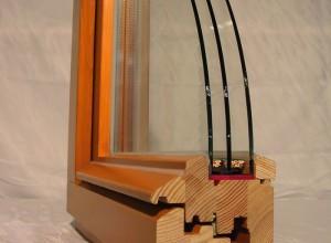 Фото деревянного стеклопакета в разрезе, stdokna.ru