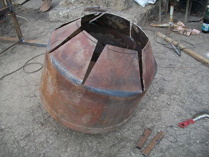 Бадья для бетона самодельная