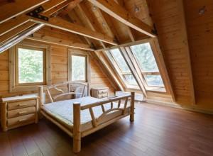 Дизайн мансарды в деревянном доме, kostroma-srub.ru