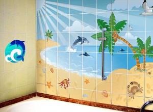 Фотография виниловых наклеек для ванной, eto-vannaya.ru
