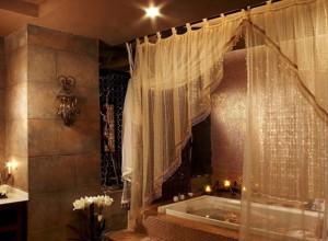 Фотография шторы для «восточной» ванной, idei-interiera.ru