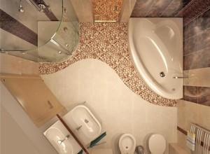 Декорирование ванной комнаты галькой, radikal.ru
