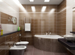 Изображение освещения в маленькой ванной, vannaexpert.ru