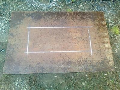 На фото лист металла с разметкой, landscape-project.ru
