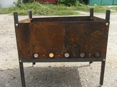 Фото самодельного мангала из металла, in-focus.com.ua