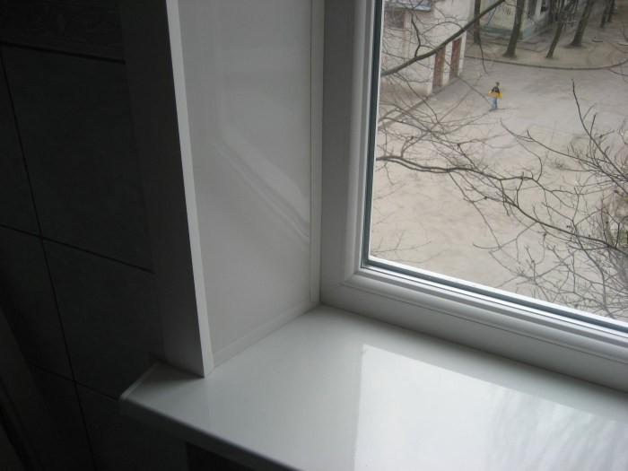 Сделать откосы на окно видео