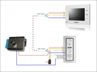Схема соединения проводами элементов домофона