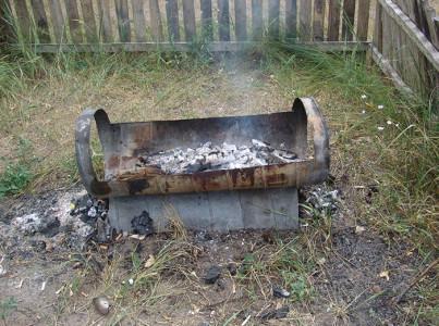 Изображение мангала из газового баллона, torange.ru