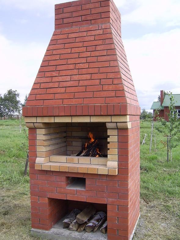 Уличная печка из кирпича