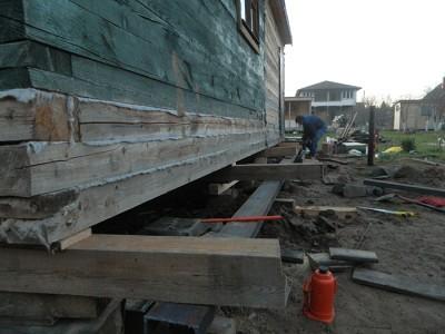 Поднятие деревянного дома, ir-on.su