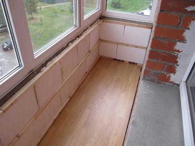 Фотография утепления балкона