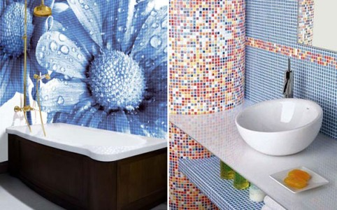 На фото изображена керамическая плитка для ванной