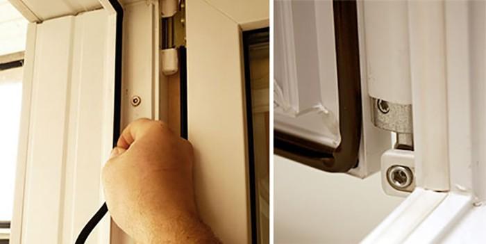После замены уплотнителей плохо закрываются двери балкона..