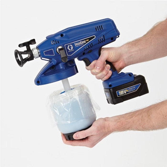 Фото ручного аккумуляторного распылителя грунтовки по металлу