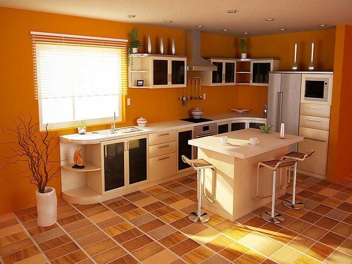 На фотографии линолеум для кухни