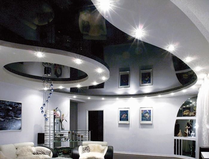 Фото натяжного потолка из ПВХ