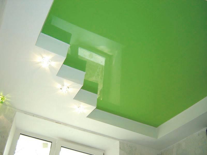 Фото красивого пластикового потолка
