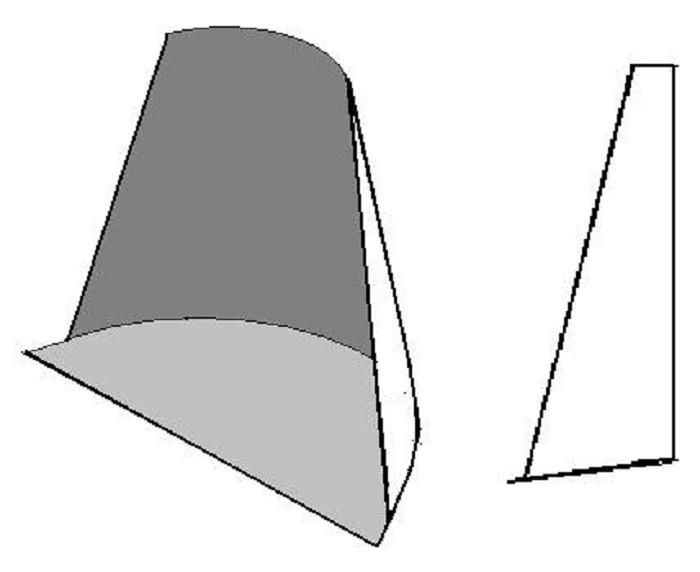 На фото часть усеченного конуса для самодельной лопаты для мотоблока