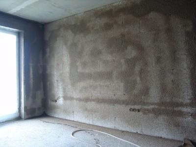 Фотография загрунтованной стены