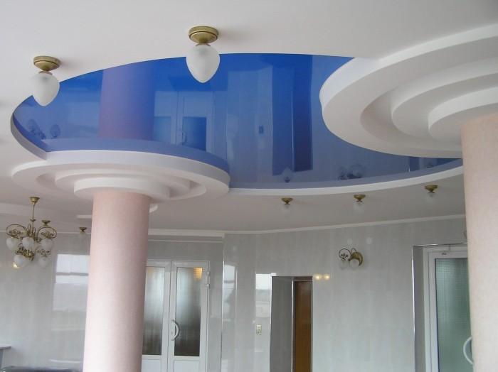 Фотография натяжного потолка из ПВХ
