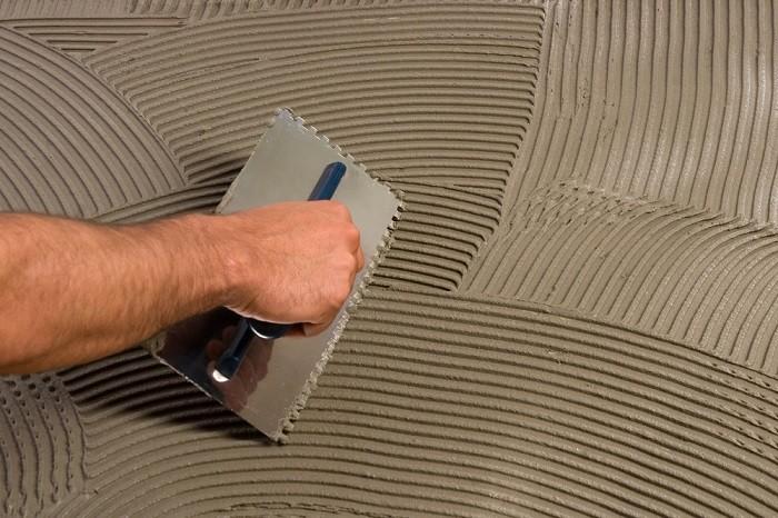 На фото расчет плиточного клея на 1м2