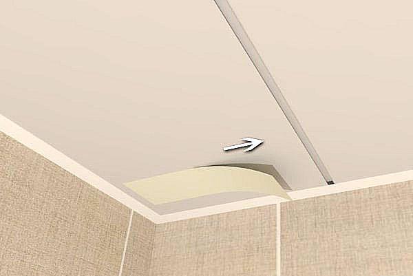 Заделка межпанельных швов в потолке