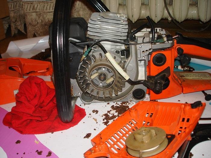 Фотография ремонта бензопилы