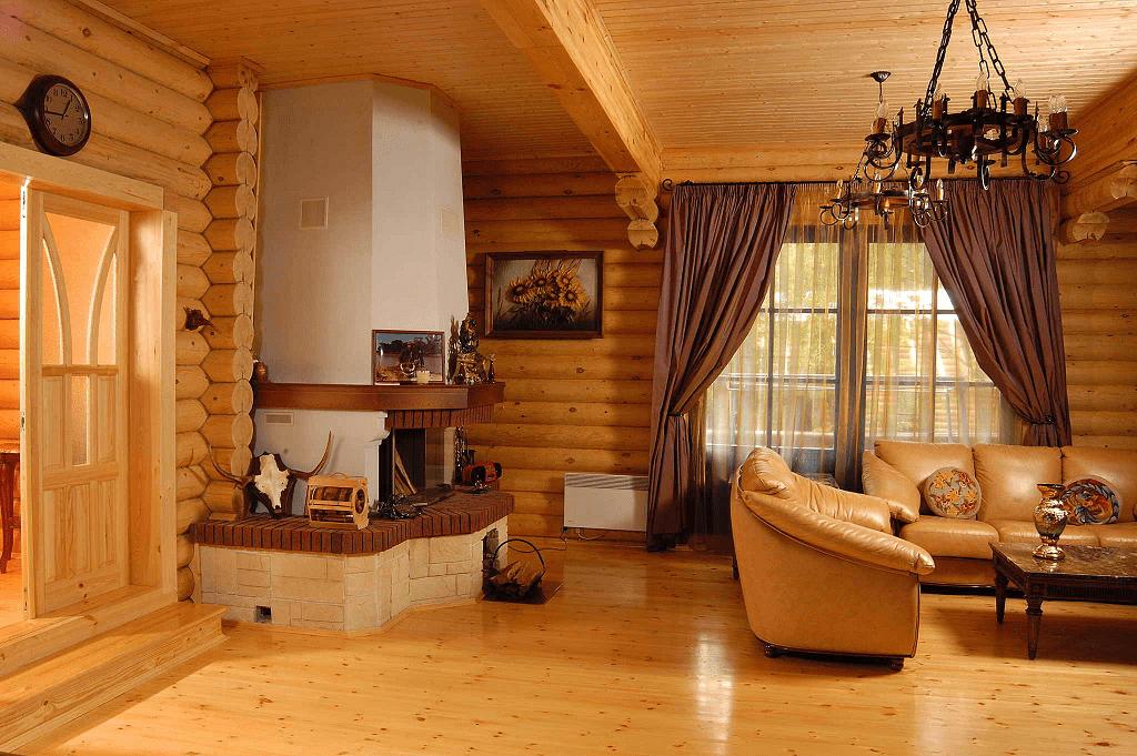 Отделка деревом внутри дома своими руками